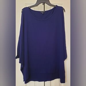 Eileen Fisher Butterfly Box Top Royal Purple L